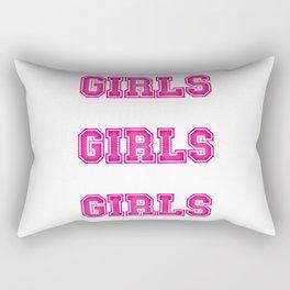 Girls Girls Girls #society6 #decor #buyart #artprint Rectangular Pillow