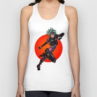 police Tank Tops featuring Cyber Police by Ben Krefta