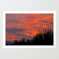 August Sunset Art Print