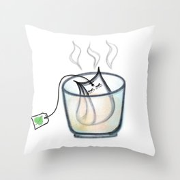 Time to drink tea Throw Pillow