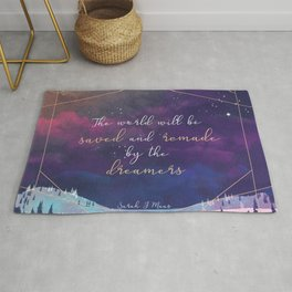 The World will be saved and remade by the dreamers Quote | SJM Rug
