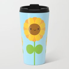 Kawaii Sunflower Travel Mug