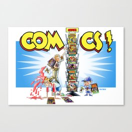 Comic books and the Spiner Rack Canvas Print