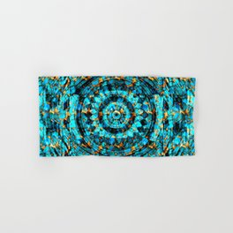 Inner Deck Gold and Turquoise Hand & Bath Towel