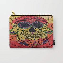 Sugar Skull in Color Carry-All Pouch