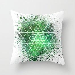 Sri Yantra Sacred Geometry Throw Pillow