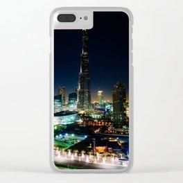 Dubai Cityscape Clear iPhone Case