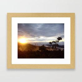 Sunset over the jungle in Costa RIca Framed Art Print