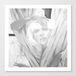 Chandelier blackandwhite Canvas Print