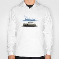 porsche Hoodies featuring deep water porsche by Vin Zzep