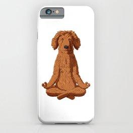 Yoga Golden Doodle iPhone Case