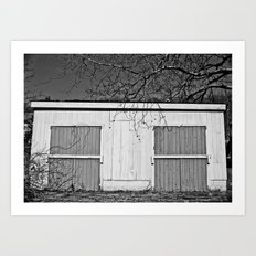 Back of the Chicken Coop Art Print