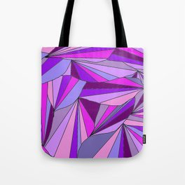 Purple triangle pattern Tote Bag