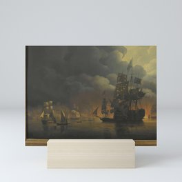 The Anglo-Dutch Fleet under Lord Exmouth and Vice Admiral Jonkheer Theodorus Frederik van Capellen p Mini Art Print