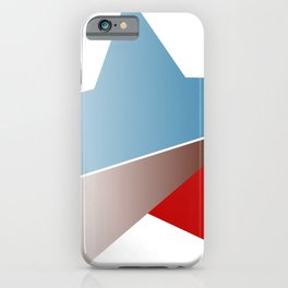 Ombre red white and blue star iPhone Case