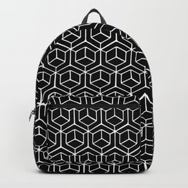 Hand Drawn Hypercube Black Backpack