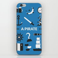 ouat iPhone & iPod Skins featuring OUAT - A Pirate by Redel Bautista