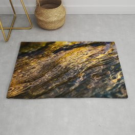 River Ripples in Yellow Gold and Brown Rug