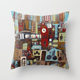 City, City Throw Pillow