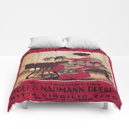 Vintage poster - Naumann Sewing Machine Comforters