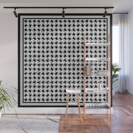 Black and White Wiggles Wall Mural