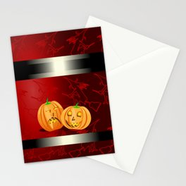 Pumpkins and spooky witches Stationery Cards