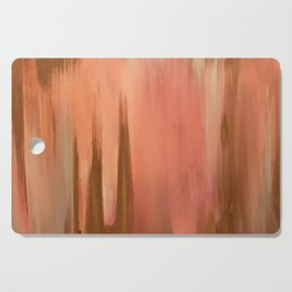 Blush with Gold Abstract Cutting Board