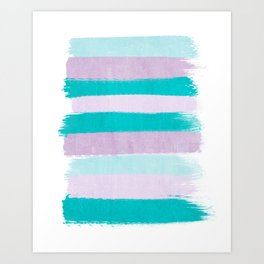 Painted stripes minimal brushstrokes nursery home decor modern canvas art Art Print