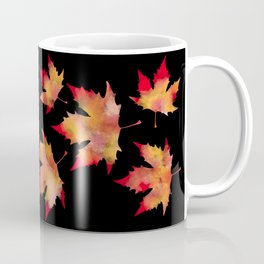 Maple leaves black Coffee Mug