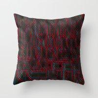 acid Throw Pillows featuring Acid by NaturePrincess