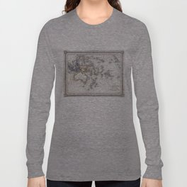 Vintage Map of Oceania (1852) Long Sleeve T-shirt