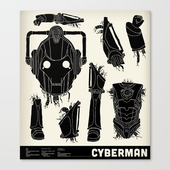 Decommissioned: Cyberman Canvas Print
