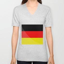 Germany flag Unisex V-Neck
