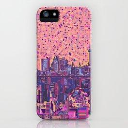 san antonio city skyline abstract 5 iPhone Case