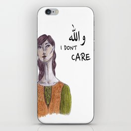 والله I don't care iPhone Skin