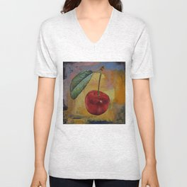 Vintage Cherry Unisex V-Neck