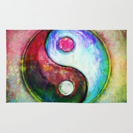 Yin Yang - Colorful Painting IV Rug