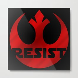 Rebels Resist! Metal Print