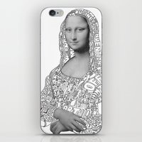 mona lisa iPhone & iPod Skins featuring Mona Lisa by nice to meet you