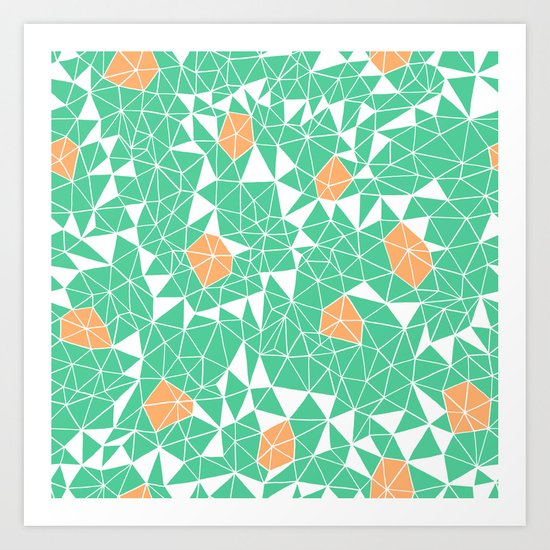 Berries and Mint Art Print