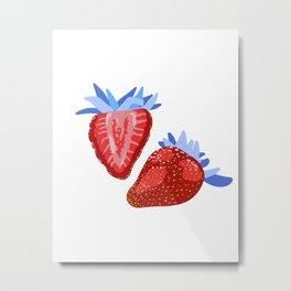 Modern Strawberry Metal Print