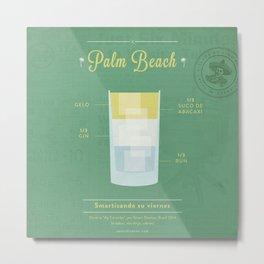 Palm Beach - Cocktail by Juan Metal Print