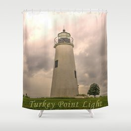 Turkey Point Lighthouse  Shower Curtain