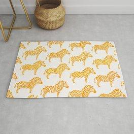 Zebras – Yellow Palette Rug