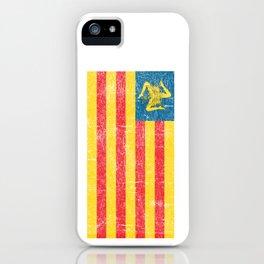 Sicilian Pride - Sicilia - Sicilian Flag Trinacria Faded iPhone Case