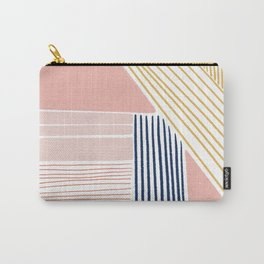 Gold and Pink Lines Carry-All Pouch