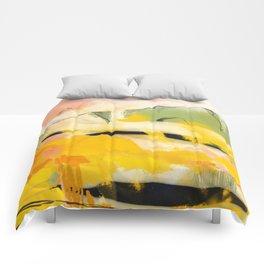landscape abtract - paysage jaune Comforters