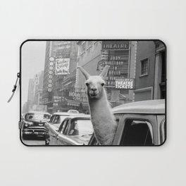 Llama Riding In Taxi Laptop Sleeve