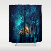 starry night Shower Curtains featuring starry night by haroulita