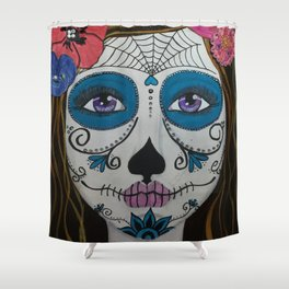 Day of the Dead Girl1 Shower Curtain